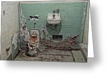 Alcatraz Vandalized Cell Greeting Card