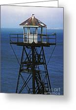 Alcatraz Watch Tower Greeting Card by Paul W Faust -  Impressions of Light