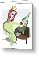 Alcoholism, Conceptual Artwork Greeting Card