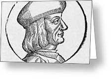 Aldus Manutius, Italian Printer Greeting Card
