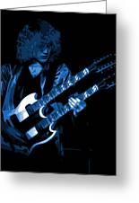 Doubleneck Spokane 1978 Blue Greeting Card