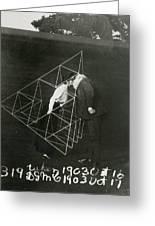 Alexander Graham Bell And Mabel Kissing Greeting Card