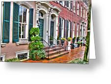 Alexandria Row Houses Greeting Card