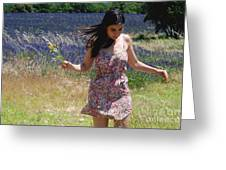 Alexis In Lavender Greeting Card