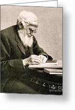 Alfred Russel Wallace, Welsh Naturalist Greeting Card