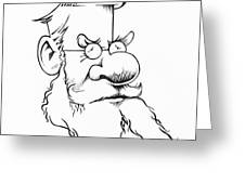 Alfred Wallace, Caricature Greeting Card