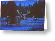 Algonquin Moonlight Greeting Card by Richard De Wolfe