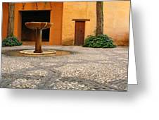 Alhambra Courtyard And Fountain In Spain Greeting Card