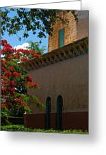 Alhambra Water Tower Windows And Door Greeting Card