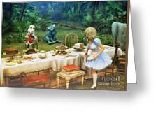 Alice In Wonderland Greeting Card by Jutta Maria Pusl