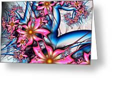 Alien Bouquet Greeting Card