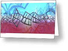 Alien Fence Over The Red Sea Greeting Card