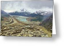 Alien Landscape  Meade Glacier Greeting Card