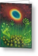 Alien Plants Greeting Card