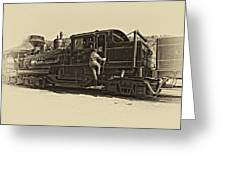 All Aboard Antique Greeting Card