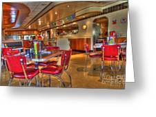 All American Diner 5 Greeting Card by Bob Christopher