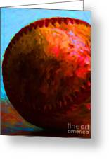 All American Pastime - Baseball Version 3 - Painterly Greeting Card