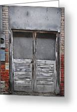 Alley Doors Greeting Card