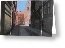 Alley Front Street Layered Greeting Card