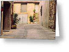 Alley In Arles France Greeting Card