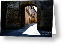 Alley With Sunlight Greeting Card