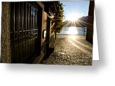 Alley With Sunshine Greeting Card