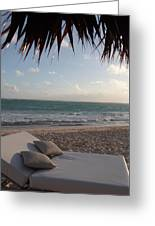 Alluring Tropical Beach Greeting Card
