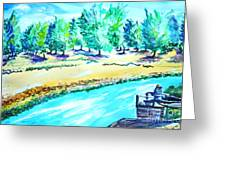 Almond Grove Greeting Card