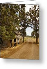 Almost A Pile Of Wood Barn Vertical Greeting Card