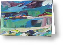Almost Abstract Painting Greeting Card