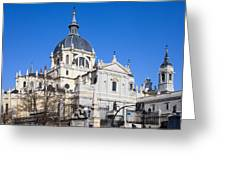 Almudena Cathedral In Madrid Greeting Card