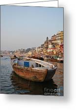 Alone On The Ganges Greeting Card
