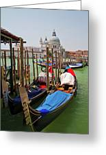 Along The Grand Canal  Greeting Card