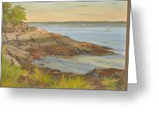 Along The Sound Shore Greeting Card