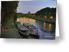 Along The Tiber Greeting Card by Ed Rooney