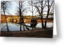 Alongside The Uhlerstown Frenchtown Bridge Greeting Card