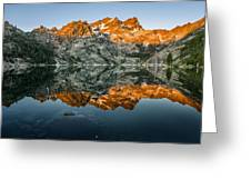 Alpenglow At Upper Sardine Lake Greeting Card