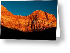 Alpenglow In Zion Canyon Greeting Card