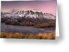 Alpenglow Over The Clyde River Greeting Card