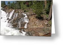 Alpine Creek Falls Lake Tahoe Greeting Card