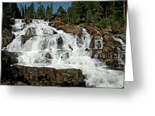 Alpine Falls Glen Alpine Falls Lake Tahoe Greeting Card