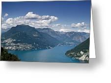 Alpine Lake And Mountains Greeting Card