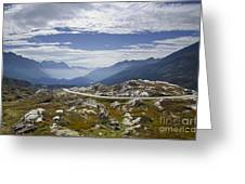 Alps And Road Greeting Card