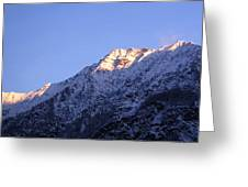 Alps In Shadows Greeting Card