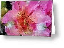 Alstroemeria Cubist Style Greeting Card