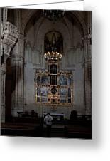 Altar Shadowed And Shining Greeting Card