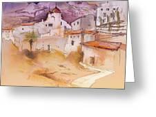Altea La Vieja In Spain 11 Greeting Card