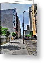 Am And As Downtown Buffalo Vert Greeting Card