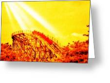 #amazing Shot Of A #rollercoaster At Greeting Card