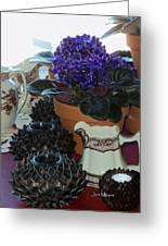 Amazing Still Life Scenes At Ron's In Grover Beach Ca Greeting Card